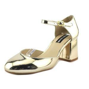 Lord & Taylor Design Lab Gold Block Heels